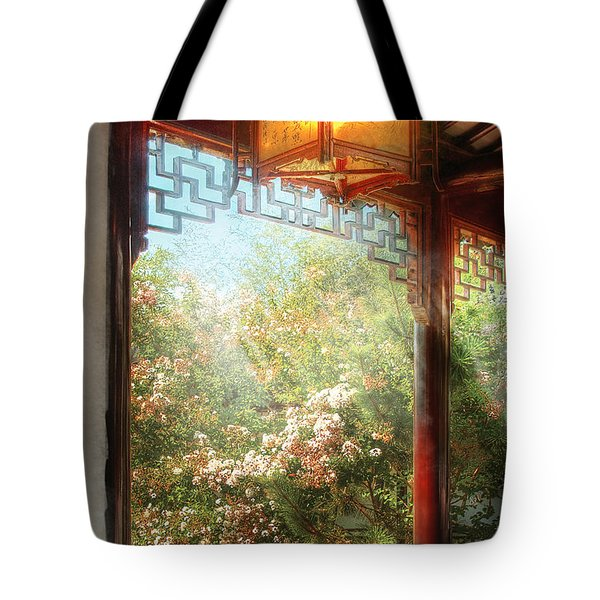 Orient - Lamp - Simply Chinese Tote Bag by Mike Savad