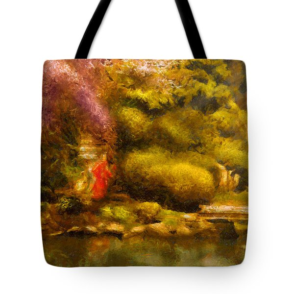 Orient - The Japanese Garden Tote Bag by Mike Savad