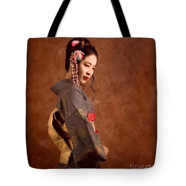 Oriental Beauty Tote Bag