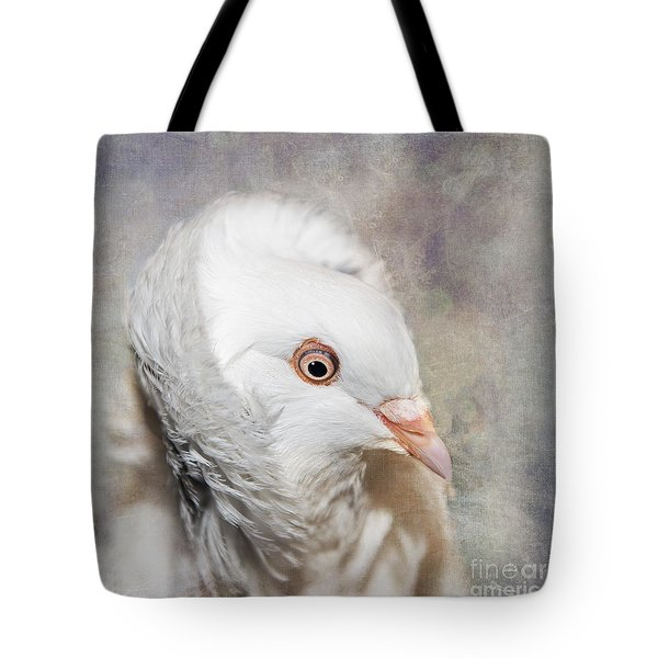 Oriental Frill Pigeon Tote Bag by Betty LaRue