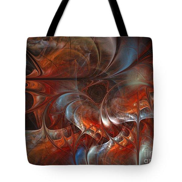 Oriental Sumptuousness-floral Fractal Design Tote Bag