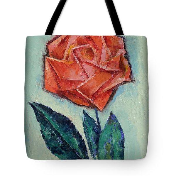 Origami Rose Tote Bag