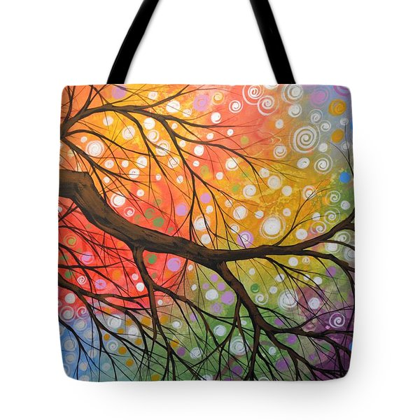 Original Abstract Painting Landscape Print ... Bursting Sky Tote Bag