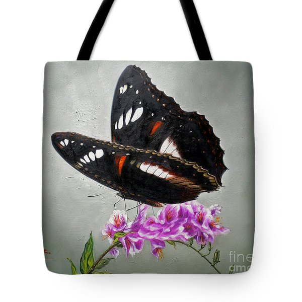 Original Animal Oil Painting Art-the Butterfly#16-2-1-09 Tote Bag