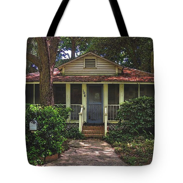 Tote Bag featuring the photograph Original Beach Cottage #108 by Laura Ragland
