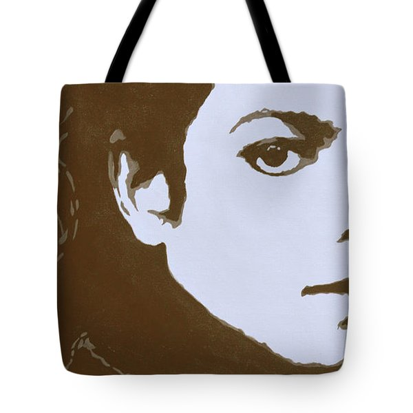 original black an white acrylic paint art- portrait of Michael Jackson#16-2-4-12 Tote Bag