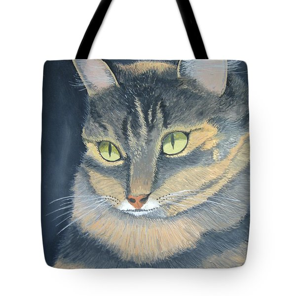 Original Cat Painting Tote Bag by Norm Starks