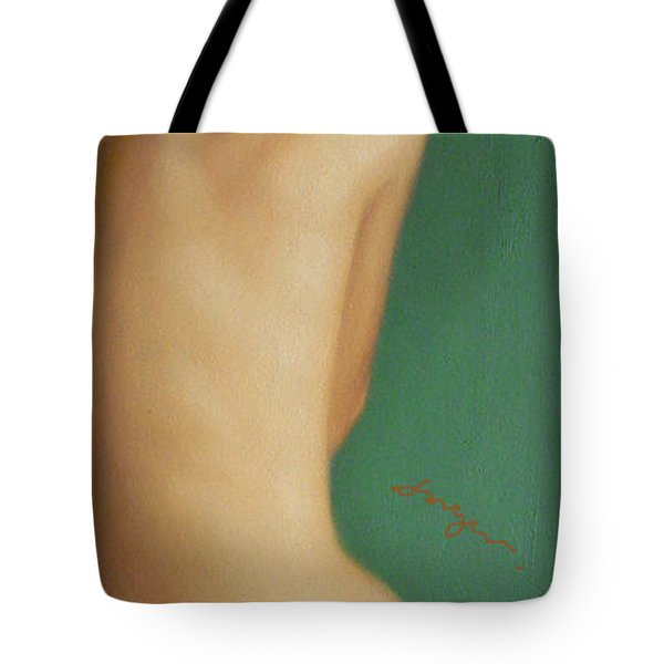 Original Classic Oil Painting Man Body Art-the Young Male Nude#16-2-1-07 Tote Bag