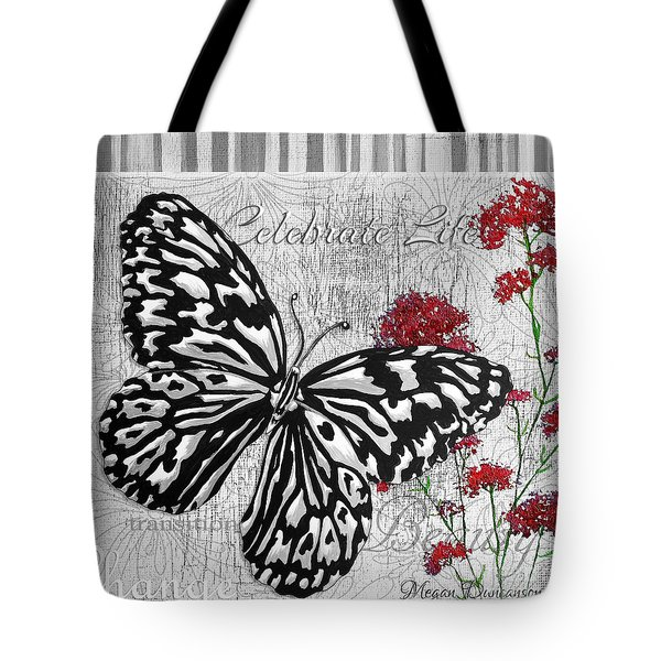 Original Inspirational Uplifting Butterfly Painting Celebrate Life Tote Bag