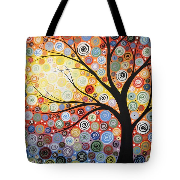 Original Painting Print Titled Celestial Sunset Tote Bag