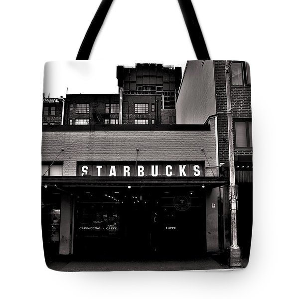 Original Starbucks Black And White Tote Bag