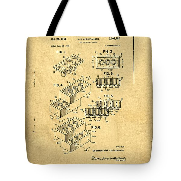 Original Us Patent For Lego Tote Bag