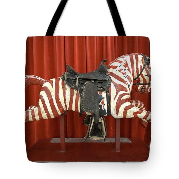 Original Zebra Carousel Ride Tote Bag by Liane Wright