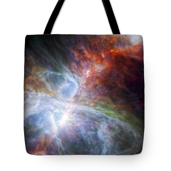 Orion's Rainbow Of Infrared Light Tote Bag by Adam Romanowicz