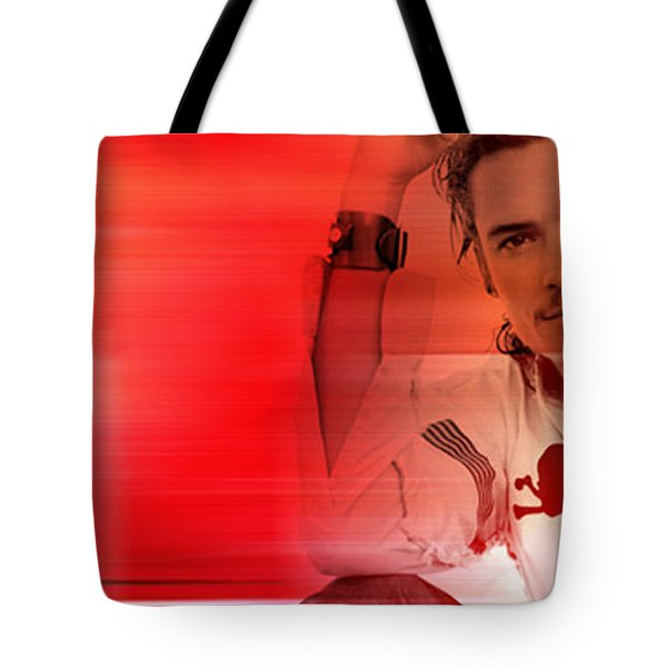 Orlando Bloom Tote Bag by Marvin Blaine
