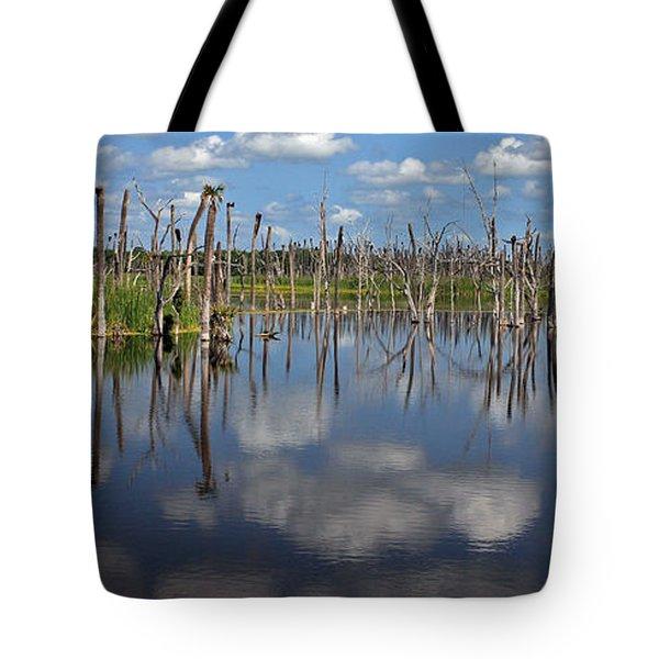 Orlando Wetlands Cloudscape 5 Tote Bag by Mike Reid