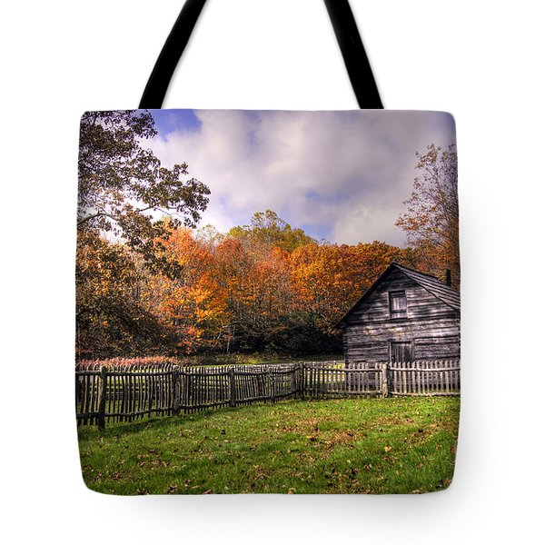 Orlean Puckett's Cabin Tote Bag by Benanne Stiens