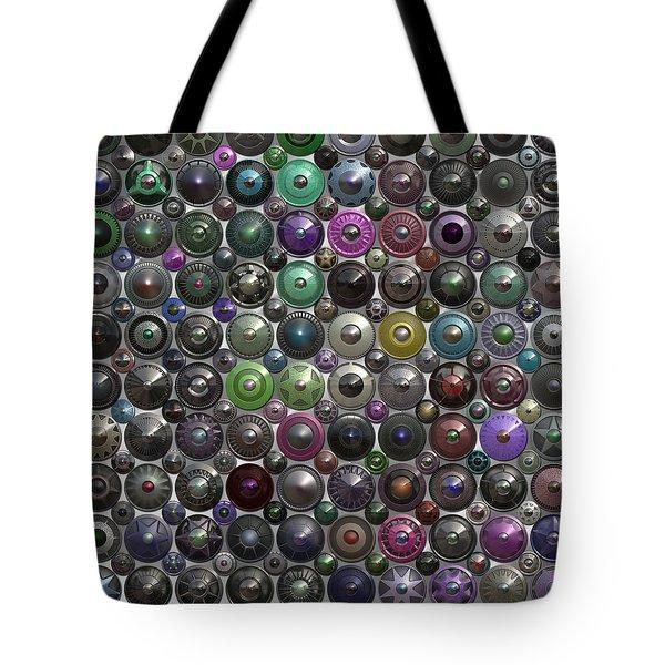 Ornamental Hubcaps Tote Bag