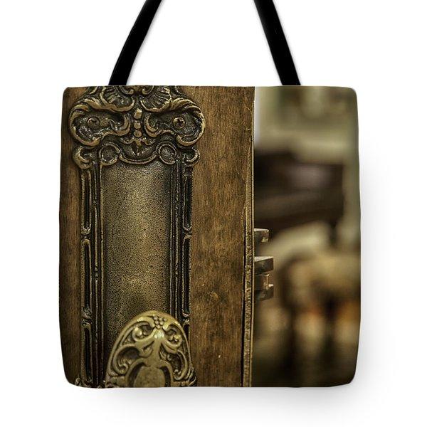 Ornate Brass Doorknob Tote Bag by Lynn Palmer