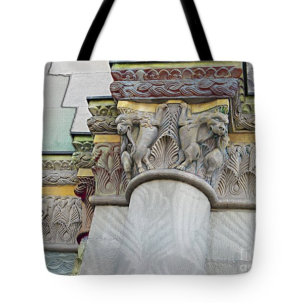 Ornate Columns Giclee Tote Bag by CR Leyland