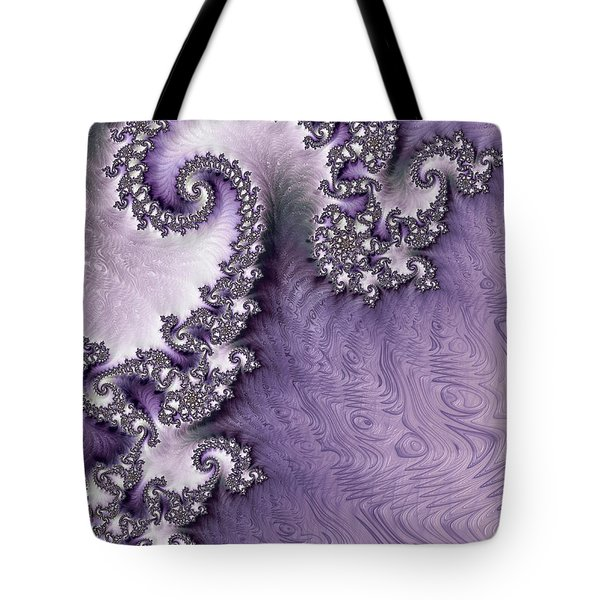Ornate Lavender Fractal Abstract One  Tote Bag