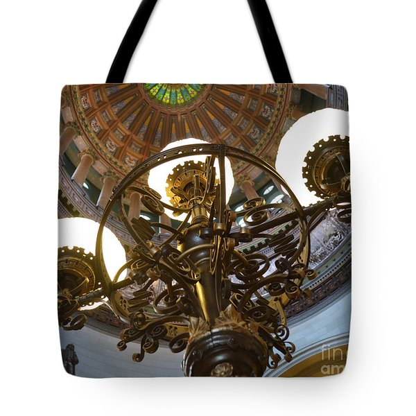 Ornate Lighting - Sprngfield Illinois Capitol Tote Bag
