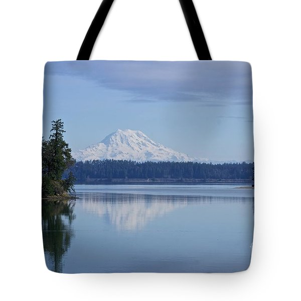 Oro Bay Reflection Tote Bag by Sean Griffin
