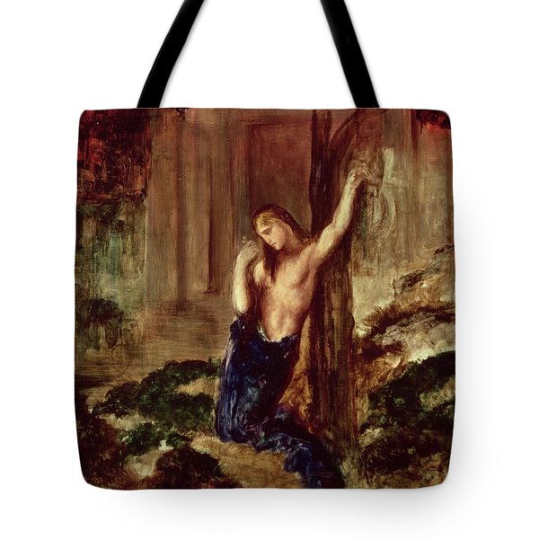 Orpheus At The Tomb Of Eurydice Tote Bag by Gustave Moreau