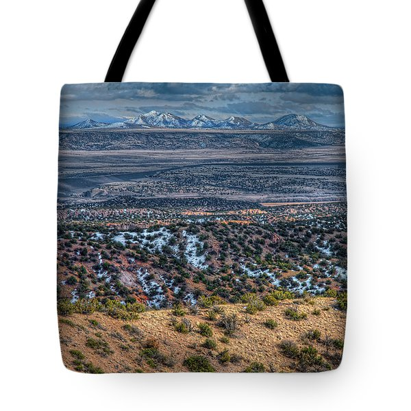 Ortiz Mountains Tote Bag by Britt Runyon