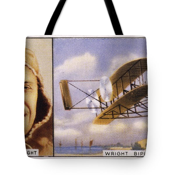 Orville Wright And Biplane Tote Bag by Mary Evans Picture Library