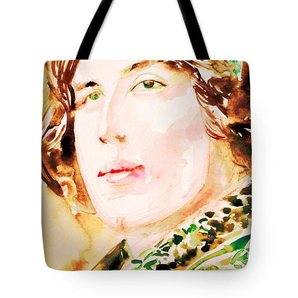 Oscar Wilde Watercolor Portrait.3 Tote Bag by Fabrizio Cassetta