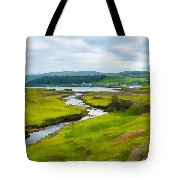 Osdale River Leading Into Loch Dunvegan In Scotland Tote Bag