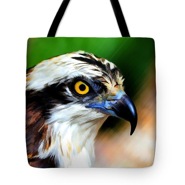 Osprey Portrait Tote Bag by Dan Friend
