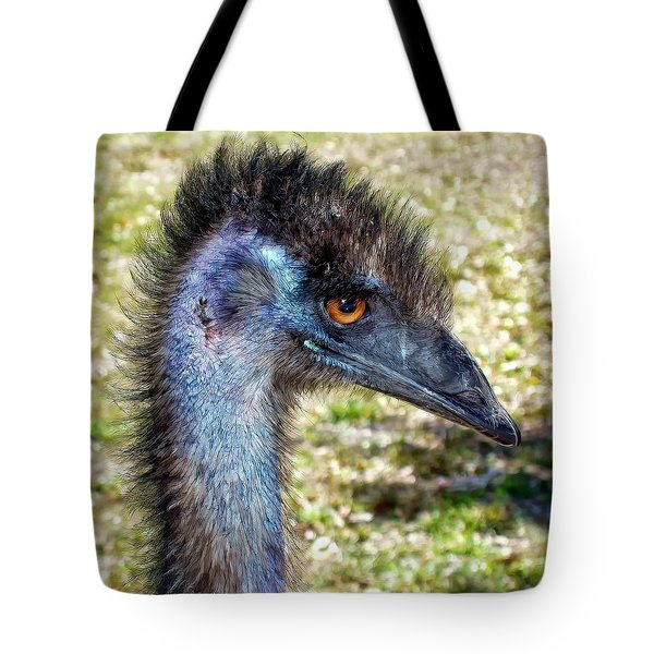Tote Bag featuring the photograph Ostrich 1 by Dawn Eshelman