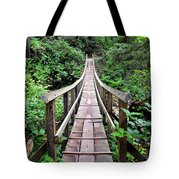 Oswald Swinging Bridge  Tote Bag