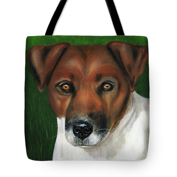 Otis Jack Russell Terrier Tote Bag by Michelle Wrighton