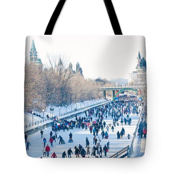 Ottawa Rideau Canal Tote Bag by Cheryl Baxter
