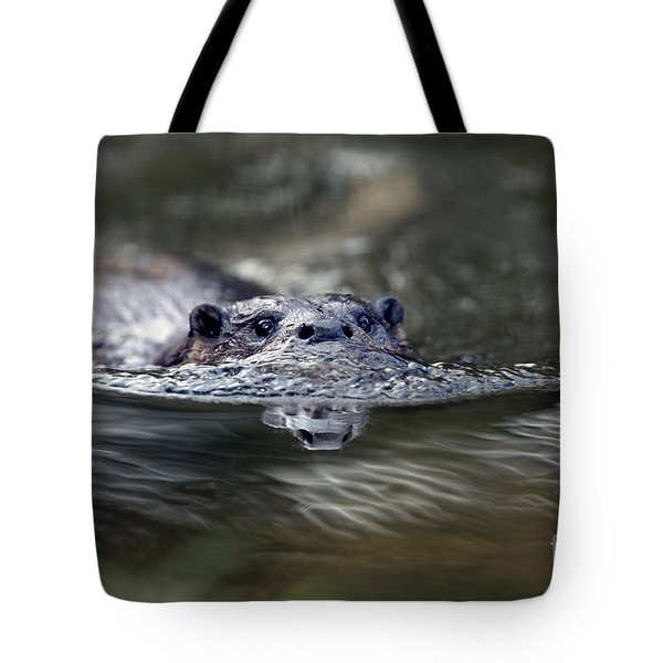 Otter Swimming Tote Bag