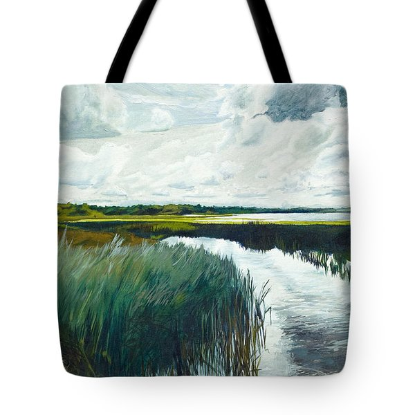 Otter Tail River From Bridge Tote Bag