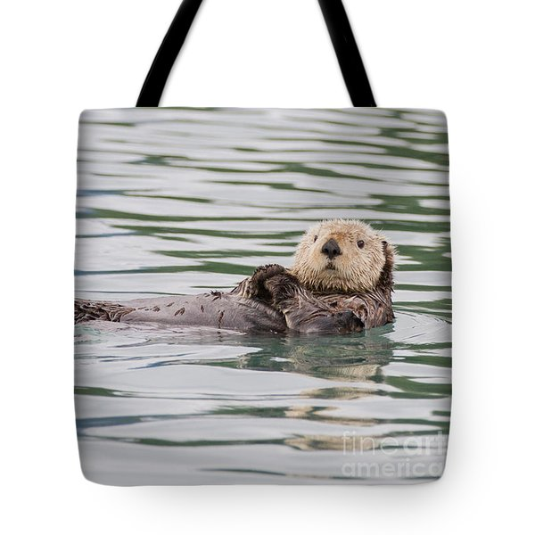 Otterly Adorable Tote Bag by Chris Scroggins