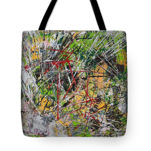 Tote Bag featuring the painting Oumph by Lucy Matta