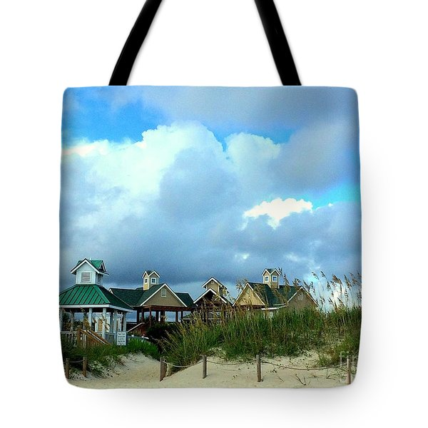Tote Bag featuring the photograph Our Beach House by Shelia Kempf