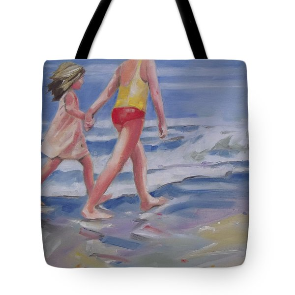 Our Beach Walk Tote Bag