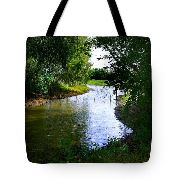 Our Fishing Hole Tote Bag by Peter Piatt
