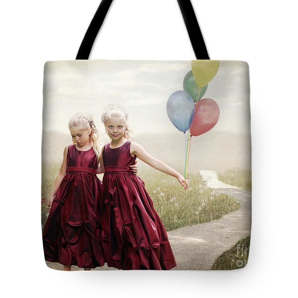Our Hearts Say We're Friends Tote Bag by Linda Lees