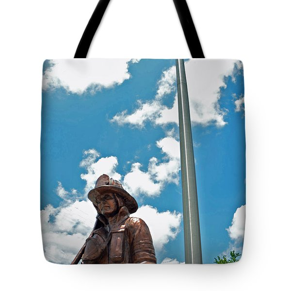 Tote Bag featuring the photograph Our Heroes by Charlotte Schafer