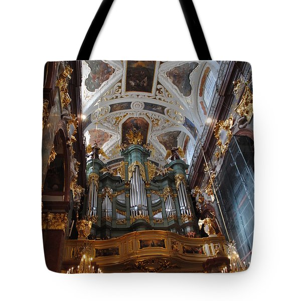 Our Lady Of Czestohowa Basilica Interior Tote Bag by Jacqueline M Lewis