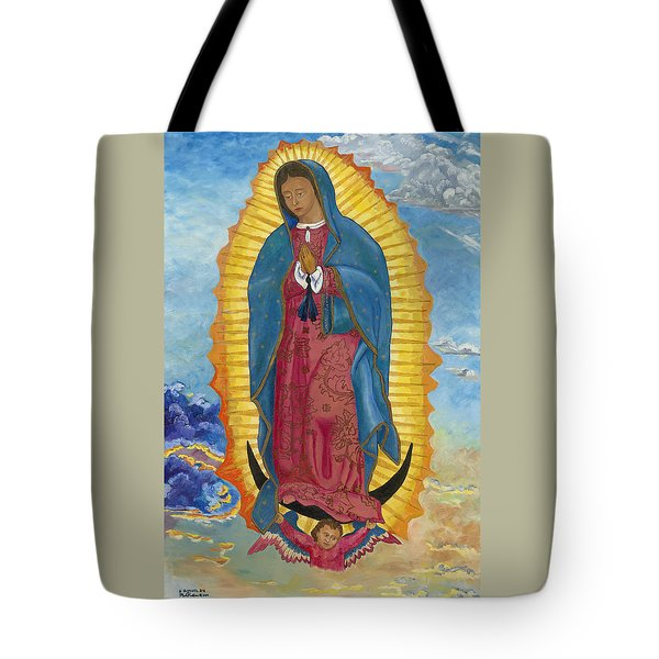 Our Lady Of Guadalupe-new Dawn Tote Bag by Mark Robbins