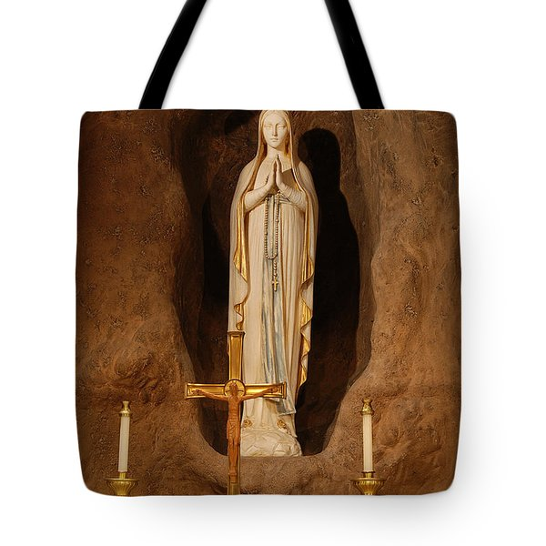 Our Lady Of Lourdes Tote Bag by Philip Ralley