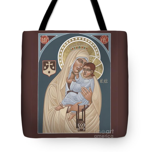 Tote Bag featuring the painting Our Lady Of Mt. Carmel 255 by William Hart McNichols